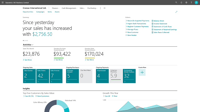 business central expense manager integration